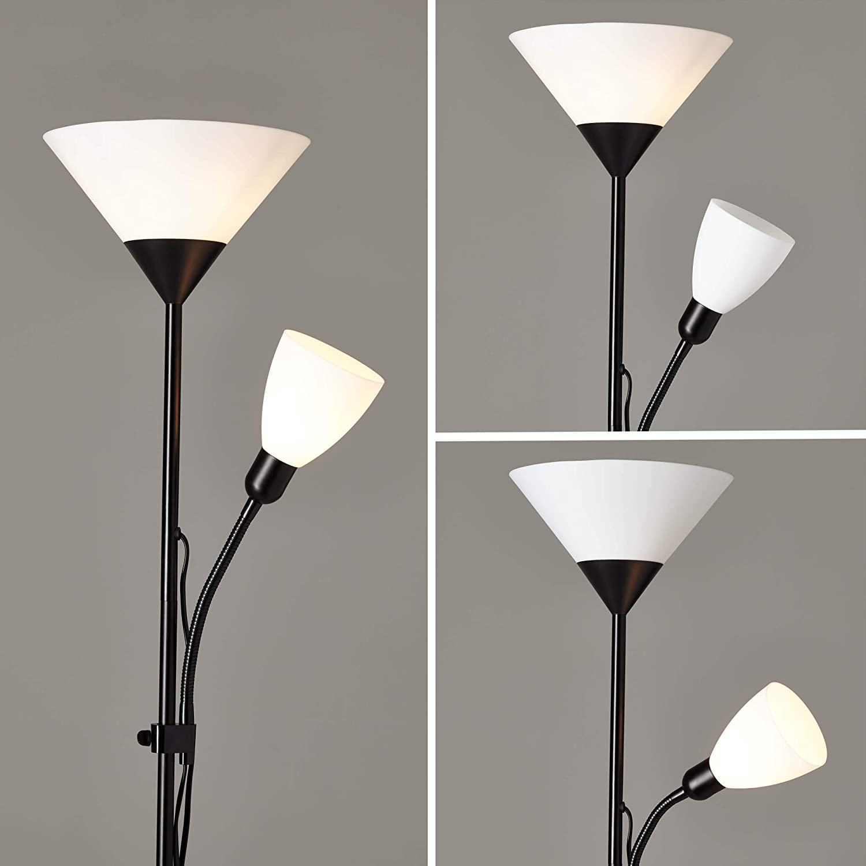 Brilliant 93008/76 - Lámpara de pie, aluminio;plástico