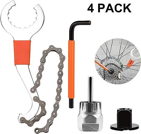 Qkurt - Juego de herramientas para quitar piñones de bicicleta ...