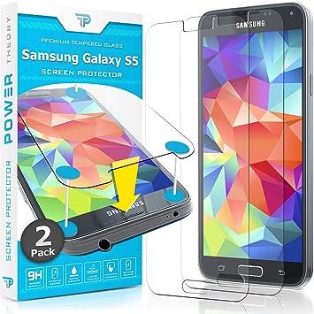 Power Theory Protector de Pantalla Galaxy S5 Cristal Templado ...