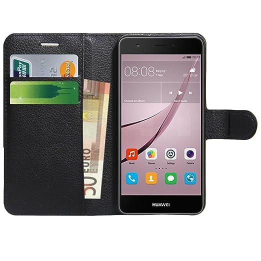 29 opinioni per Huawei Nova Custodia , Anzhao Flip Cover Portafoglio con Slot per Schede