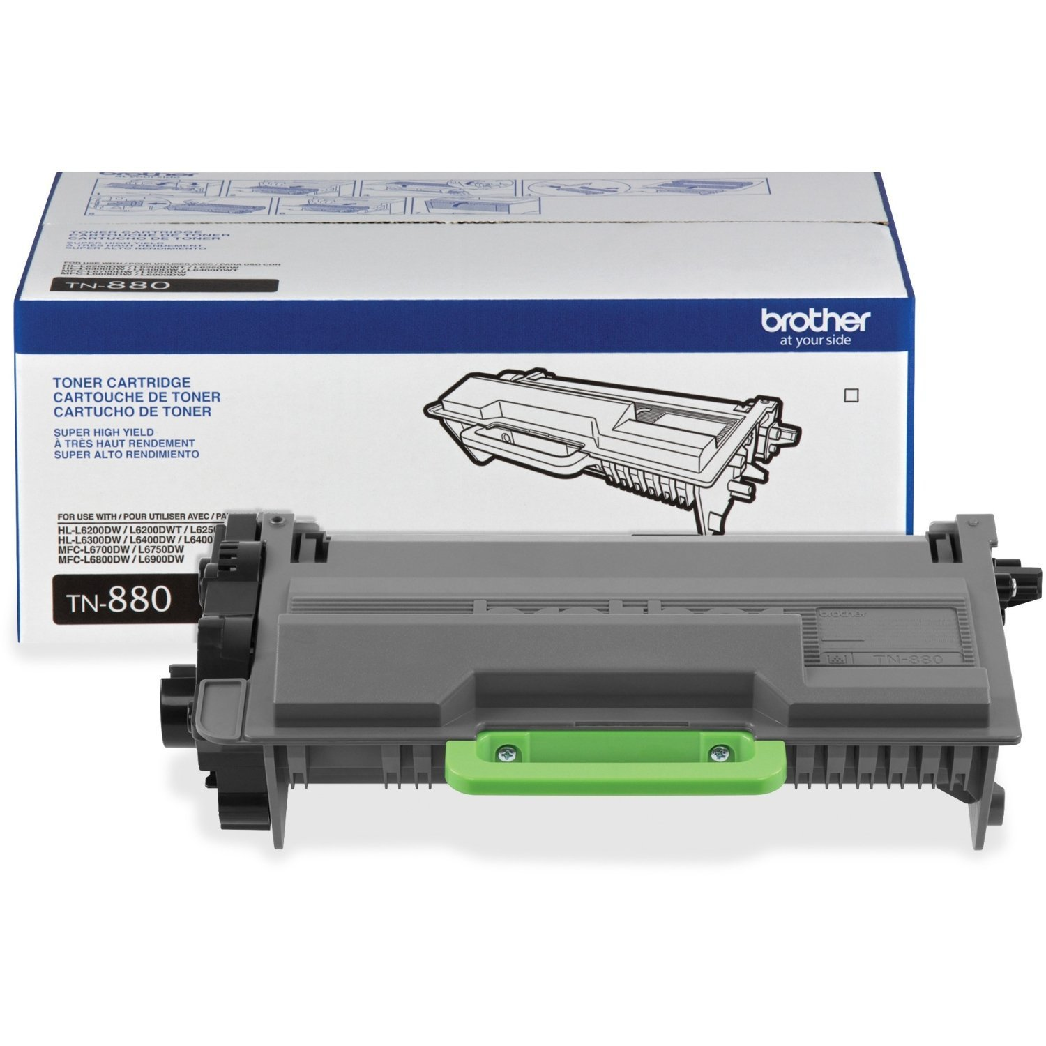 Brother Printer zIMvB Super High Yield Toner, TN880 (2 Pack)