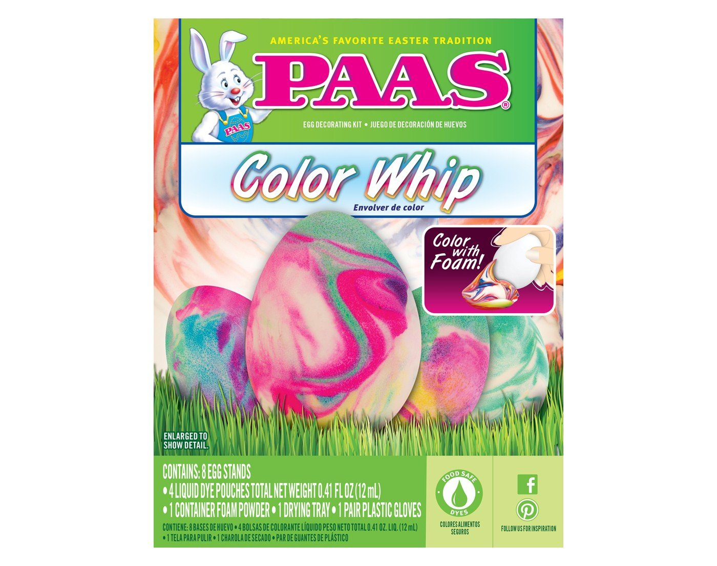 Paas Color Whip Easter Egg Decorating Kit