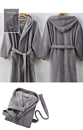 a3fa374587 Image Unavailable. Image not available for. Colour  Luxury Terry Towelling  100% Cotton Dressing Gown 1 Bathrobe Highly Absorbent Pure Color Women