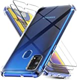 MARGOUN Cases for Samsung Galaxy M31 with 2 Pack Screen Protector, Clear Samsung Galaxy M31 Case Cover, Tempered Glass…