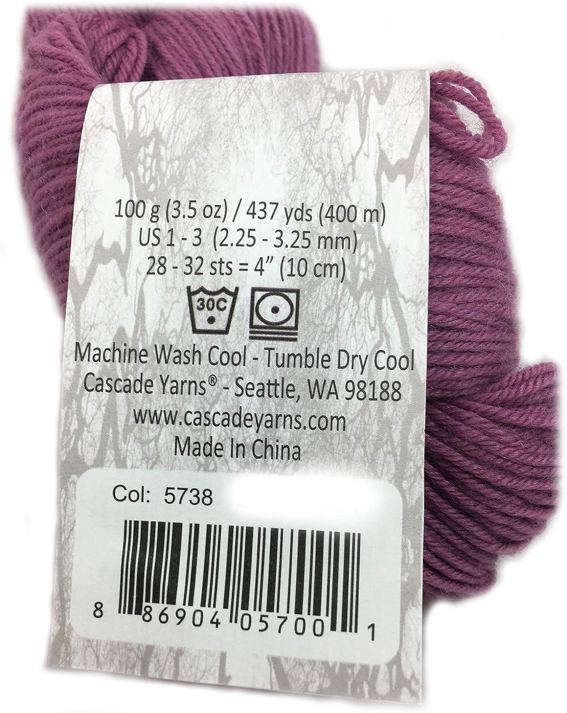 Bordeaux Cascade Heritage Yarn 437 yards Super Fine Wool Nylon Sock Yarn Color 5738