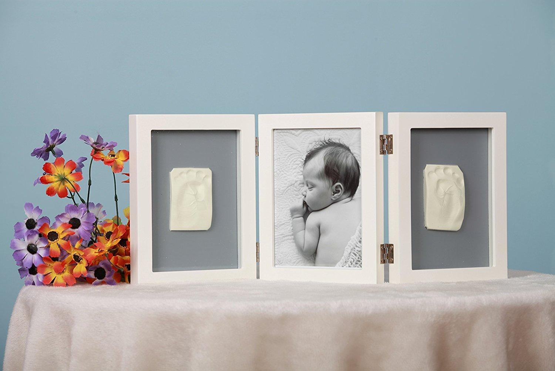 Baby Abdruck UVP 20€ 1x Bilderrahmen 38x24 Gipsabdruck Baby Hand Fuß Fotorahmen