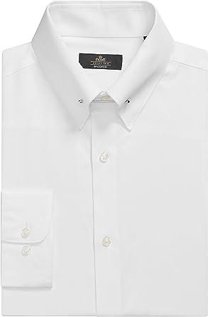 next Hombre Camisa Cuello Alfiler Entallada Algodón Corte Ajustado 17R: Amazon.es: Ropa y accesorios