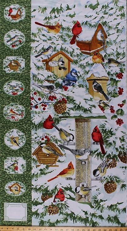 Amazoncom 235 X 44 Panel Winter Birds Bird Feeders Cardinal