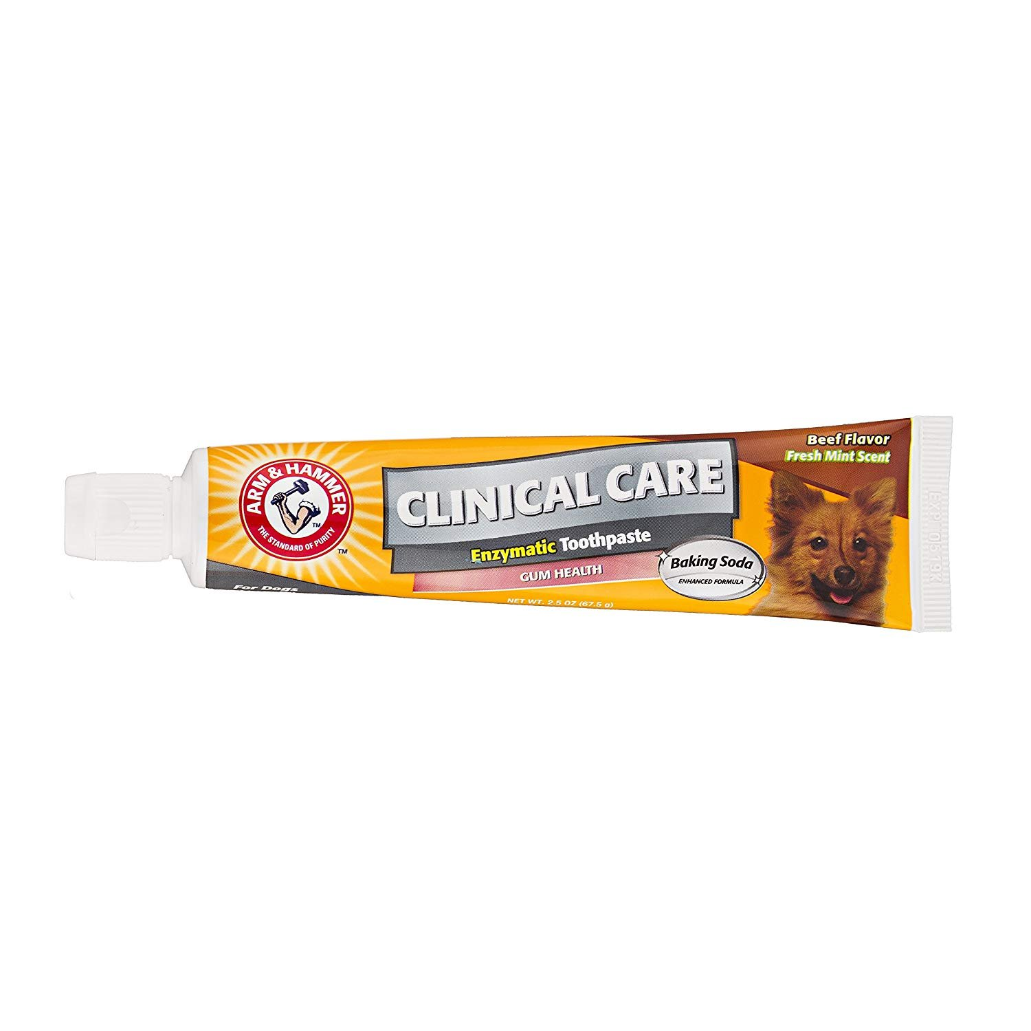 Arm & Hammer Clinical Pet Care Dental Gum Health Enzymatic Toothpaste for Dogs | Soothes Inflamed Gums | Safe for Puppies, 2.5 ounces, Beef Flavor