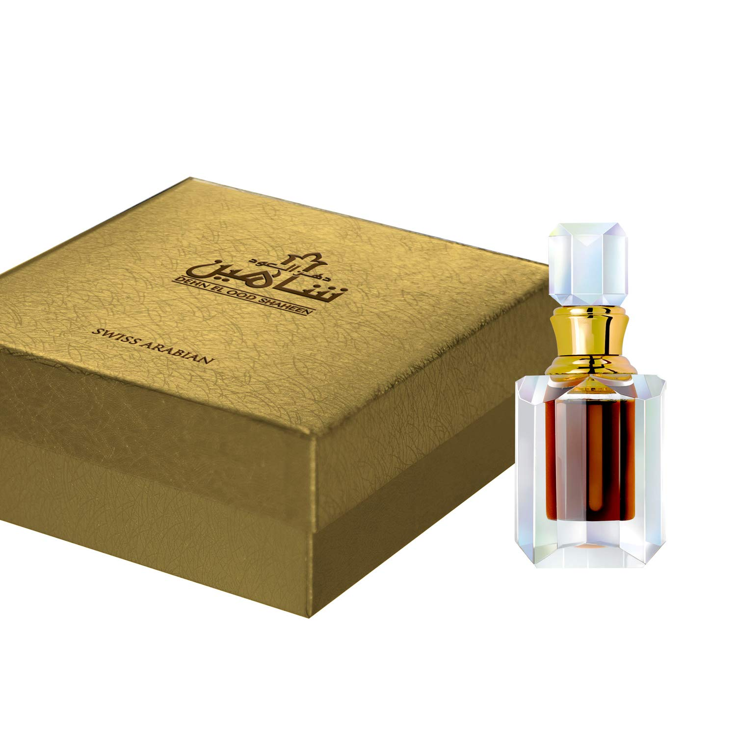 Dehn El Oud Shaheen 6mL | Alcohol Free and Natural Oudh Attar | Oudh Wood (Agarwood) Sourced from Indonesia and Cambodia | Perfume Oil for Men and Women | by Fragrance Artisan Swiss Arabian of Dubai
