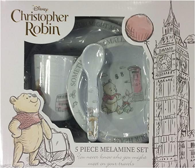Image ofDisney Christopher Robin - Vajilla de melamina (5 piezas)