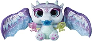 furReal Moodwings Snow Dragon Interactive Pet Toy, 50+ Sounds & Reactions, Ages 4 and Up