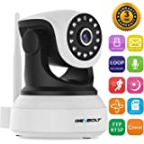 1080P Wireless WiFi Dog Camera - GENBOLT IP Security Pet Camera indoor for Home Surveillance, Day Night Vision Pan Tilt Two Way Audio Motion Detection Remote Webcam, Baby Monitor Including 40 Feet Night Vision, Instant Picture Email Message Push Alert, 64GB Storage(Max Support), 3dBi Antenna, 355 Degree View Angle, 2 Megapixel Lens, Heavy-Duty Housing, 1000+ Instagram Likes, 24-Hour Customer Support, 30-Day Money Back Guaranteed, 2-Year Warranty(1080P)