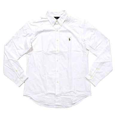 6a304350e4ba Ralph Lauren Polo Mens Stretch Oxford Slim Fit Sport Shirt, White, L