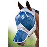 Harrison Howard CareMaster Paard Vliegenmasker Volledig gezicht zonder oren Hawaiiaans blauw (L)