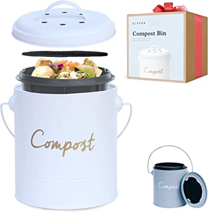 Elever Stainless Steel Compost Bin