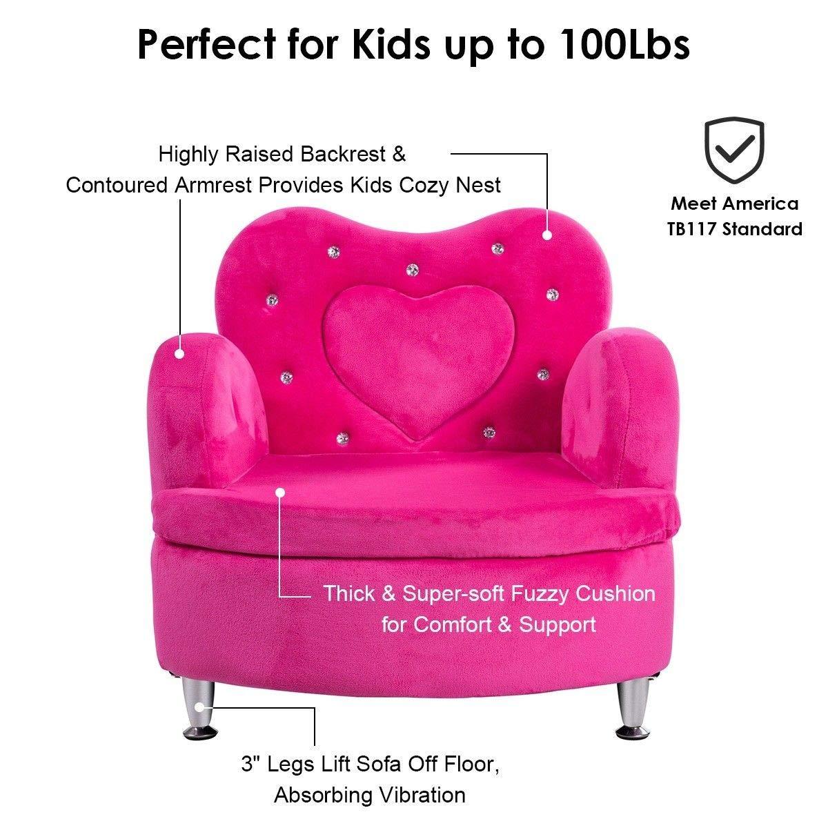 Amazon.com: Sofá infantil de costzon, Ultra suave terciopelo ...