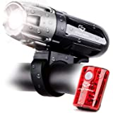 Cycle Torch Shark 550R USB Rechargeable Bike Light Set, Free USB Tail Light Included, Easy On Easy Off, Compatible with…
