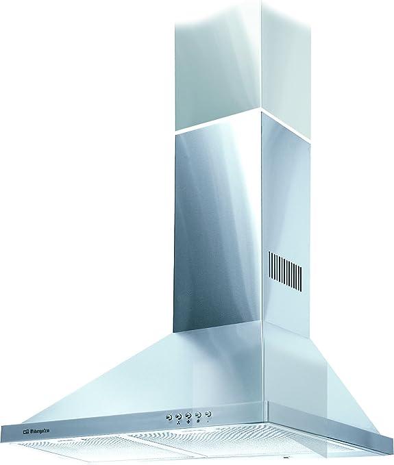 Orbegozo DS 48160 A IN-Campana decorativa, 190 W, 3 velocidades, 40, Acero inoxidable: Amazon.es: Hogar