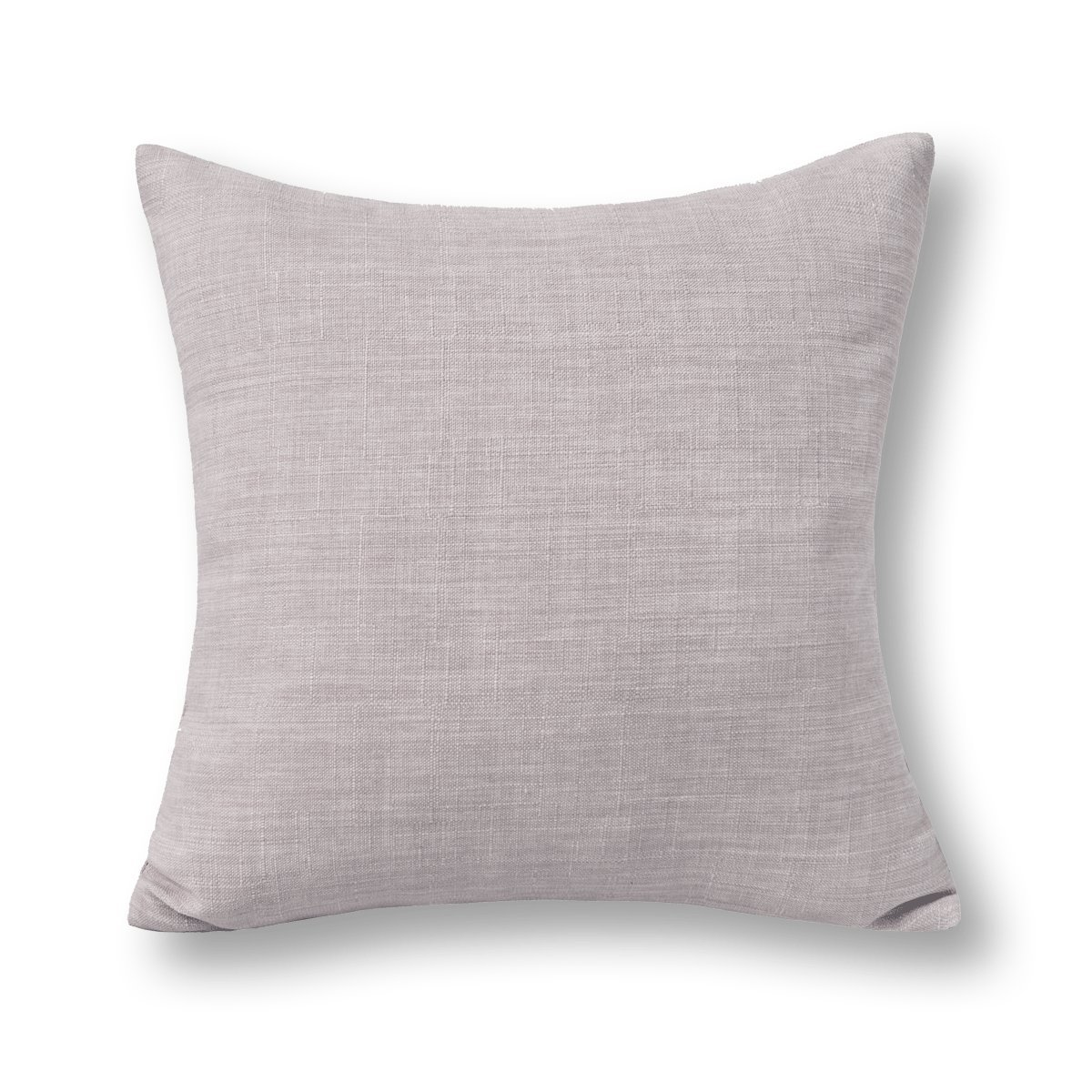 Jeanerlor Faux Lined Linen Decorative Throw Pillow Case Cushion Sham Todder(Boy Girl) Square 24x24 inch (60 x 60 cm), Light Grey