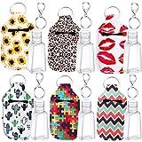 6 Sets Bottle Holder and Keychain Kits, include Reusable Bottle Holders, 30 ml Empty Liquid Dispenser for Soap Lotion…