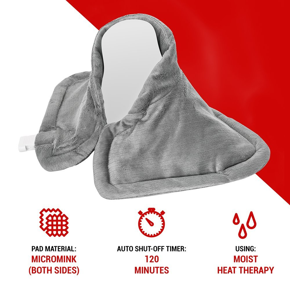 Neck Heating Pad, Electric Moist Dry Hot Pad Wrap for Neck Back Shoulder cramps and Sore Muscle Heat Pad Therapy, Heatpad with Auto Shut Off by Deneve (Image #4)