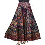 Silver Organisation Women's Printed Chiffon Maxi A-Line Floral Skirt