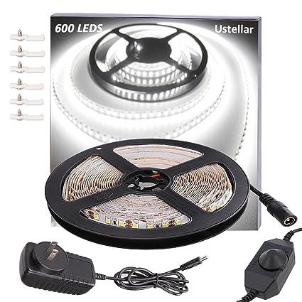 Amazon ustellar dimmable 600 led light strip kit with power ustellar dimmable 600 led light strip kit with power supply smd 2835 leds super aloadofball Images