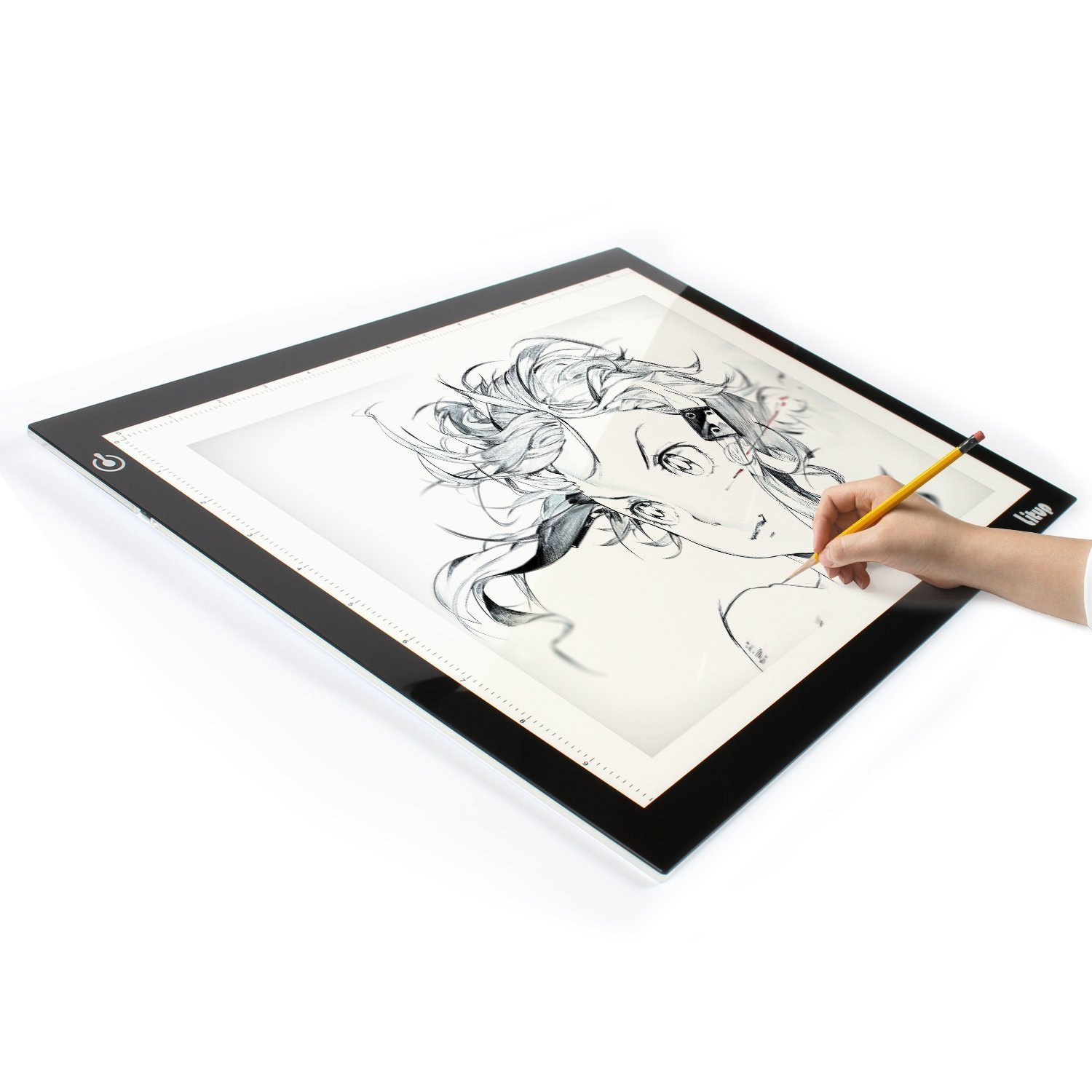 Litup L15.63'× W11.81'(B4) Super Slim and Bright LED Artcraft Tattoo Tracing Light Pad Light Box with USB Cable, Dimmable Brightness, Eyesight Protected Technology, 18 Months of Warranty - LP-B4 Litup LP-B4