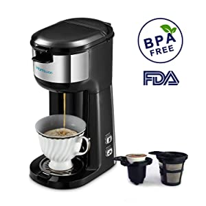 Drip Coffee Maker, HAMSWAN AD-103 Coffee Maker Coffee Pot, Small 10 Cup Coffee Machine with Glass Thermal Carafe, Insulated, Keep Warm, Automatic Shut Off for Single Serve & House Use