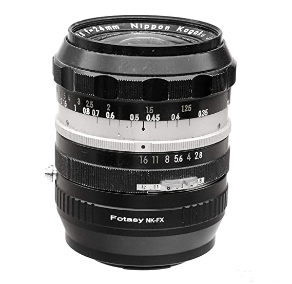 Fotasy Nikon Lens to Sony E-Mount Adapter, Compatible with Nikon Lens and  Sony FE Mirrorless Cameras A7 A7 II A7 III A7R A7R II A7R III A7S A7S II  A7S