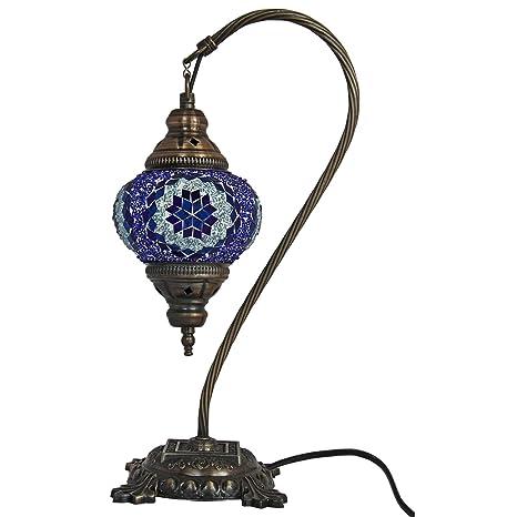 Mosaic lámpara de mesa, 16,5 cm, lámpara de escritorio ...
