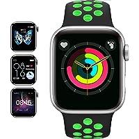 JHYH Smartwatch,Reloj Inteligente Impermeable IP67 con Monitor de Sueño Pulsómetros Cronómetros Contador de Caloría…