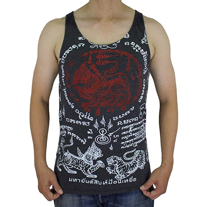 3bdefe0a55b43 Work Muay Thai Tattoo Amulet Tank Top Black/WK-T12.2 Size M: Amazon.ca:  Clothing & Accessories