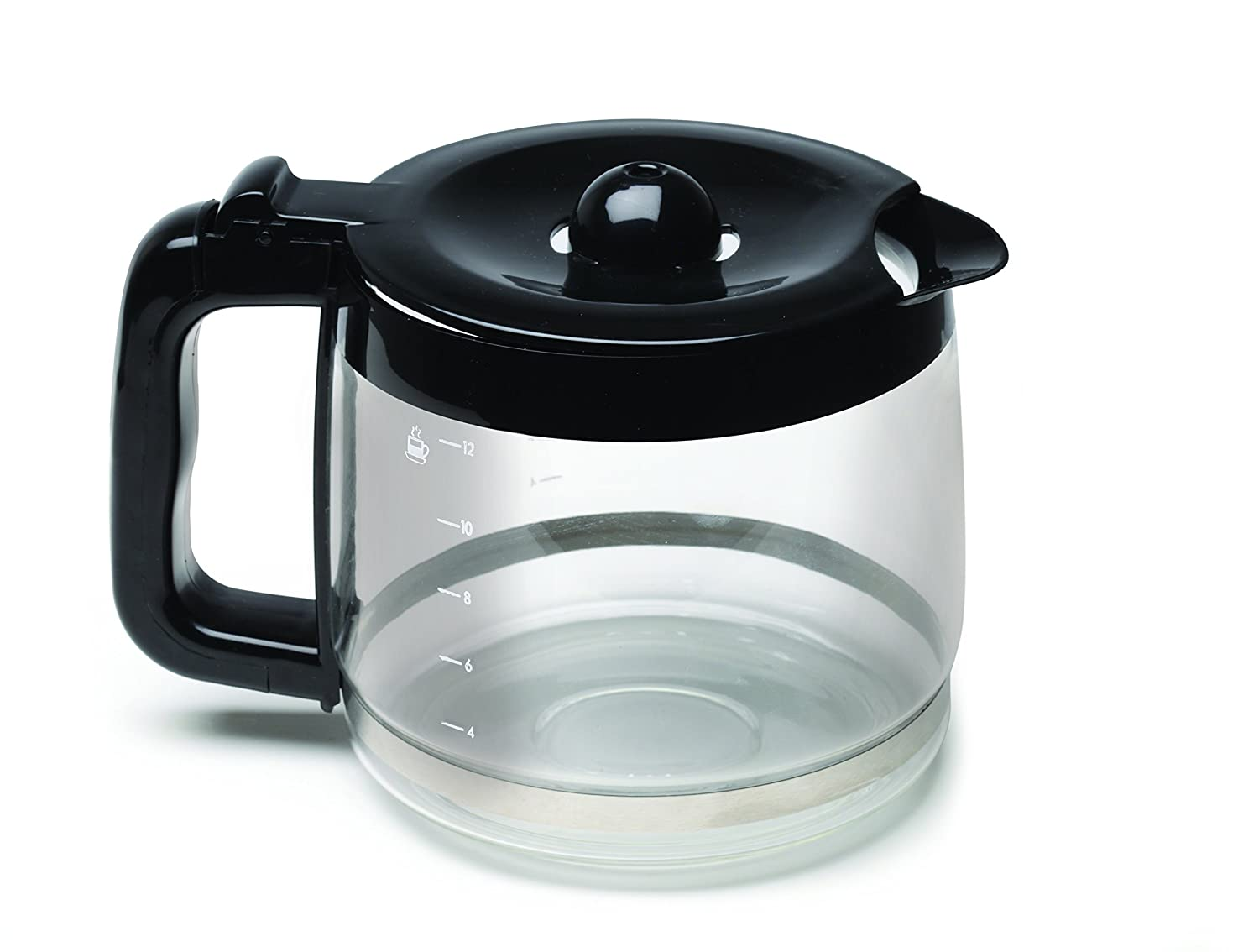 Capresso Glass with Black Accents 12 Cup Replacement Carafe For CoffeeTEAM PRO 4477.01
