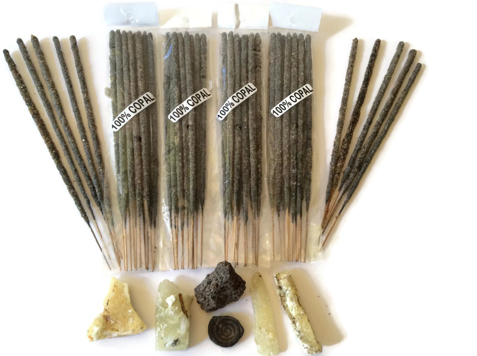Templo Totonaca Mexican Copal Incense 500 Sticks Handmade in Mexico with Authentic Copal Resin. by Templo Totonaca