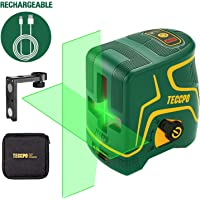 Nivel Láser Verde 30m TECCPO, USB Carga,120°Horizontal