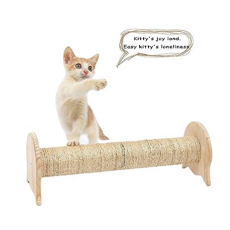 SWEET DEVIL Postes Rascadores para Gatos Juguete de Gatos con Columna de Sisal Natural,Pequeña
