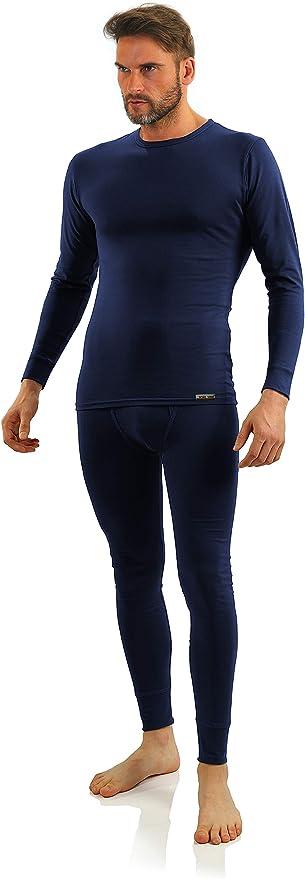 Sesto Senso Conjunto de Ropa Interior Algodón Camiseta y Calzoncillos Largos Hombre: Amazon.es: Ropa y accesorios