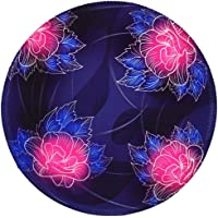 BOSOBO Round Mouse Pad, Beautiful Flowers Mouse Pad, Small Mousepad with Designs, Non-slip Rubber Mouse Pad with Stitched Edges, Customized Mouse Pad for Women Girls Office Dorm Computer Laptop Travel
