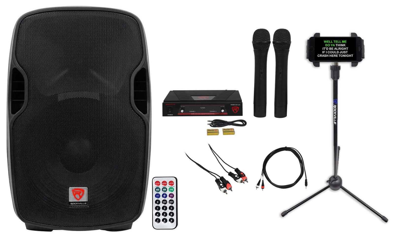 Rockville 12'' Pro Karaoke Machine/System 4 ipad/iphone/Android/Laptop/TV/Tablet