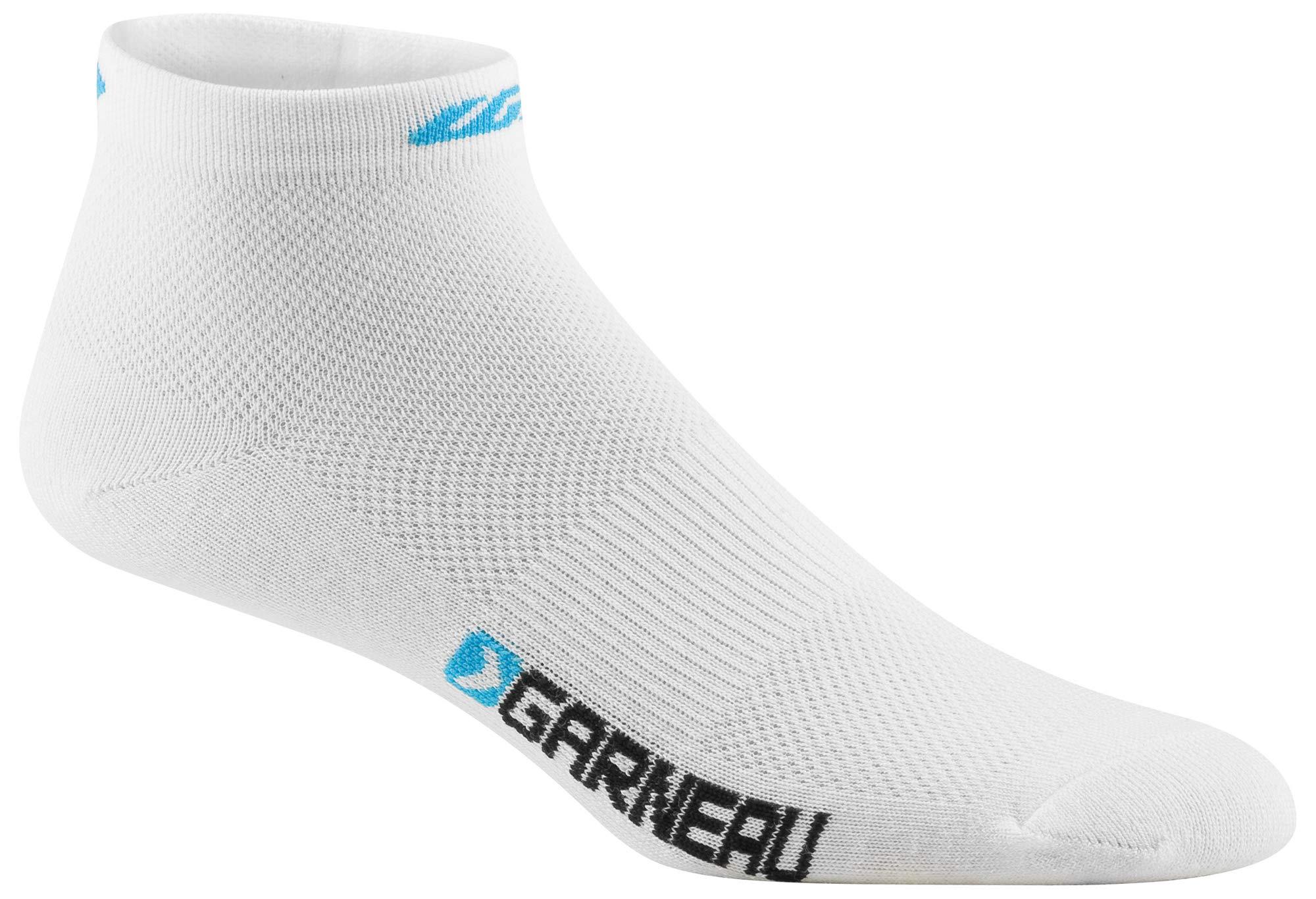 Louis Garneau Women's Low Versis Lightweight, Moisture Wicking Cycling Socks Cycling Socks 3-Pack, Atomic Blue, Large/X-Large by Louis Garneau