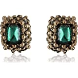 Cinderella Collection by Shining Diva Turquoise Stud Stylish Fancy Party Wear Earrings for Girls and Women