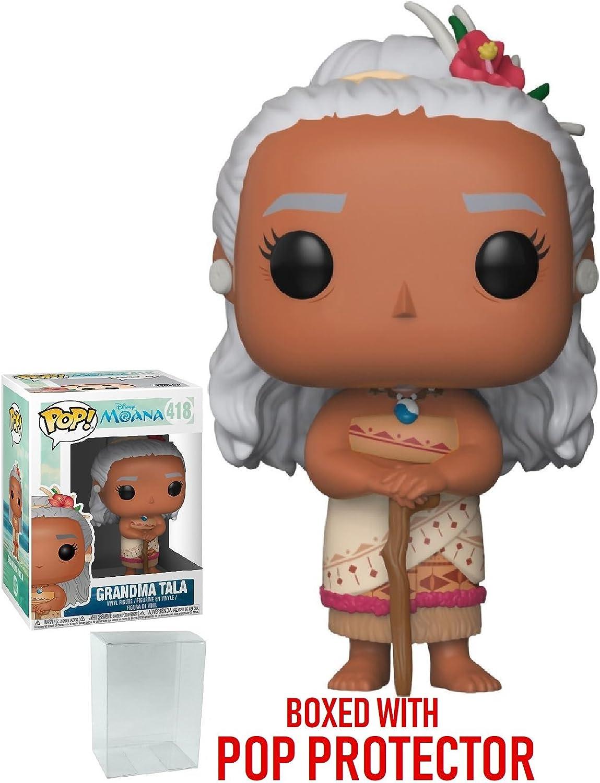 Bundled with Pop Box Protector Case Grandma Tala Vinyl Figure Disney: Moana Funko Pop
