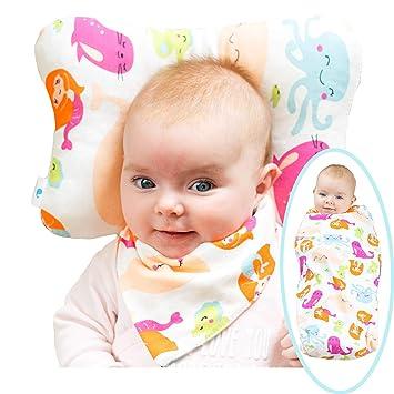 Amazon.com: WhaleCare - Almohada de cabeza plana para bebé ...