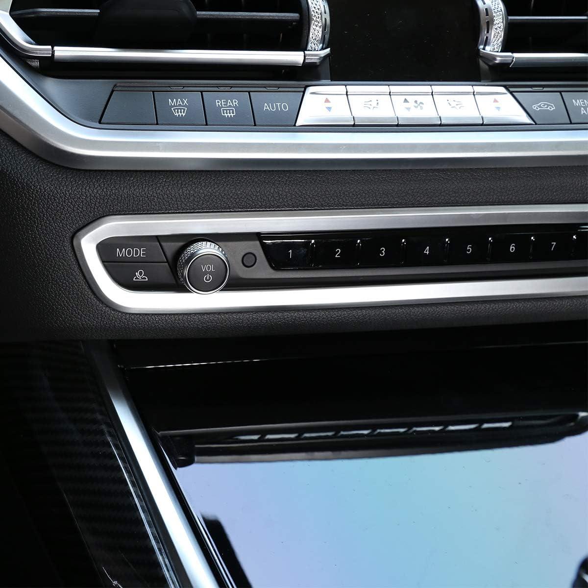 Diyucar Abs Chrom Auto Kontrollknopf Dekorativer Rahmen Für G20 G28 325li 3er Serie 2019 2020 Zubehör Auto