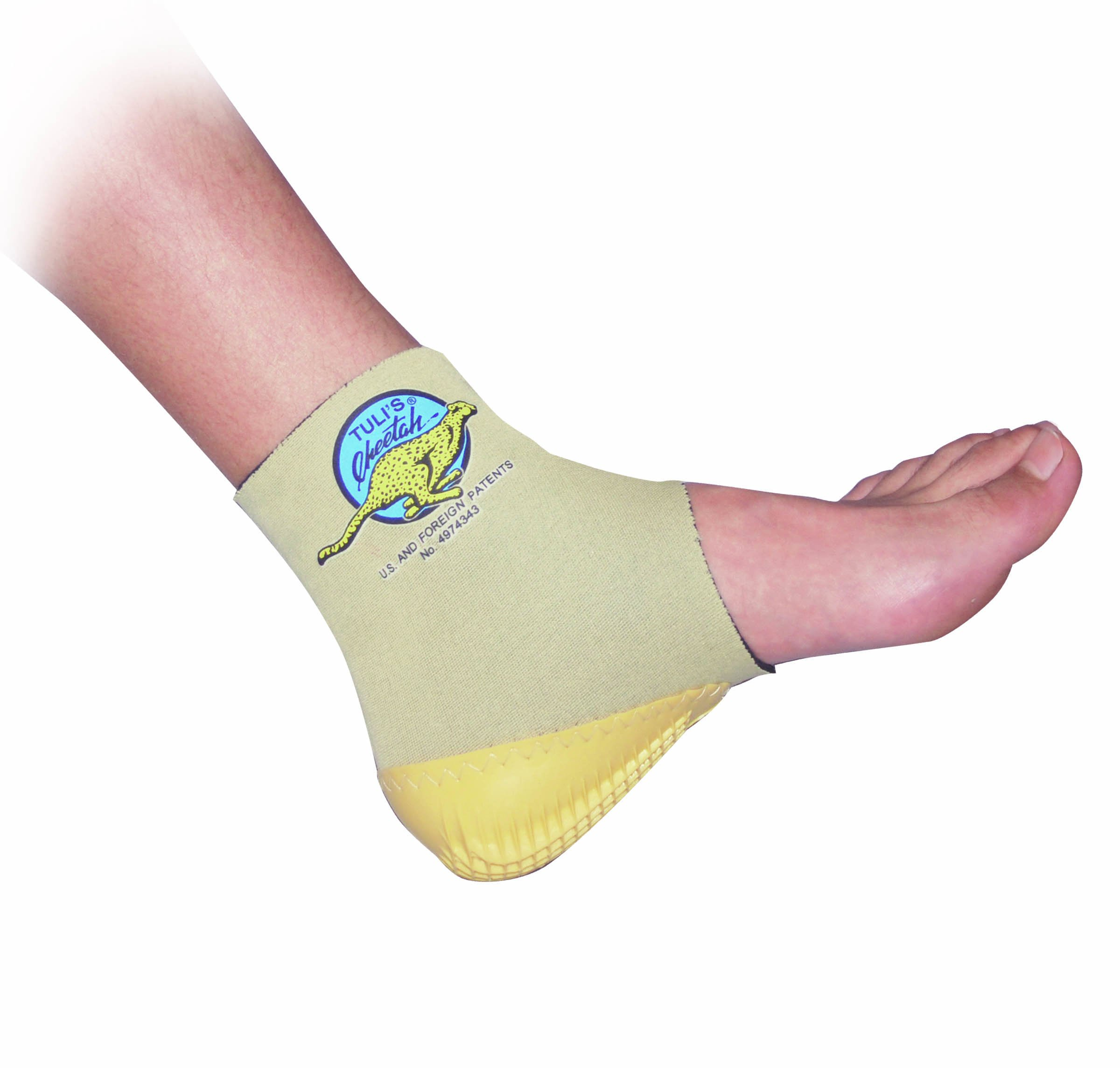 Tuli's Cheetah Heel Protector - Fitted Ankle Support for Gymnasts and Dancers - Small (7.5'' - 8.5'')