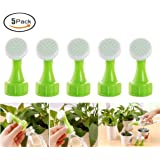Fashionclubs Plant Portable Plastic Bottle Watering Spout Bottle Cap Converter Watering Sprinkler Nozzle Works with any 0.5,1,1.5,2 Liter Soda Bottle,Pack of 5
