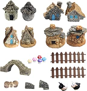Fairy Garden Accessories-16pcs Fairy Garden Accessories Outdoor Miniature Garden Decorations Fairy Garden Supplies for Garden Patio Micro Landscape Yard Bonsai Decoration-Miniature Fairy Garden Kit