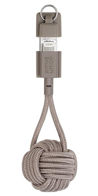 Native Union Key Cable - Ultra-Robusto Reforzado [Certificado Apple MFi] Cable de Carga Lightning a USB con Llavero (Rose)